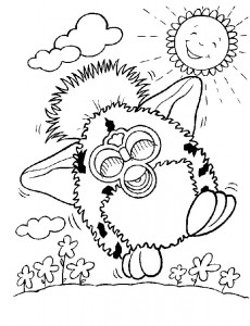 coloring page Furbie (12)