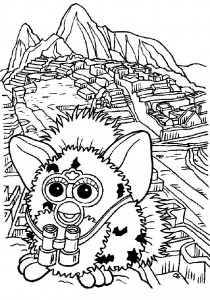 coloring page Furbie (15)