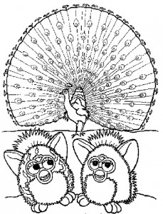 Disegno da colorare Furbie (2)
