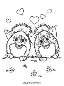 Disegno da colorare Furbie (21)