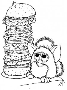 coloring page Furbie (25)