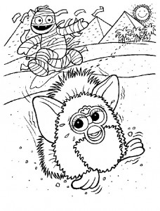 coloring page Furbie (9)