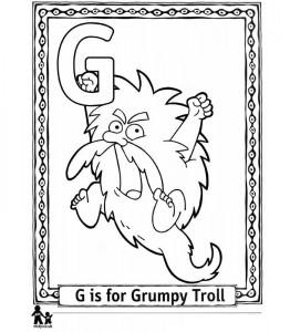 coloring page G Grumpy = Grumpy