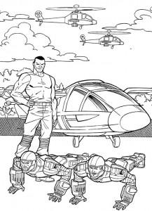kleurplaat G.I. Joe (25)