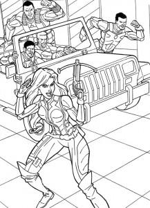 kleurplaat G.I. Joe (26)