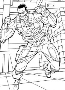 kleurplaat G.I. Joe (33)