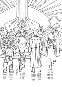 coloring page gardiens-of-the-galaxy-11