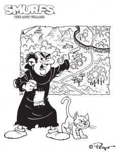 coloring page Gargamel (1)