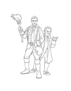 coloring page gaston lefou 2