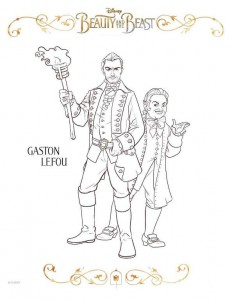 coloring page gaston lefou