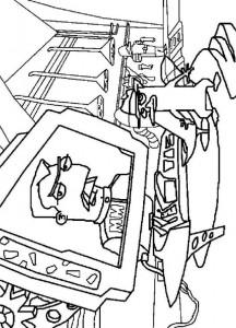 coloring page Secret agent P. and Major Monogram