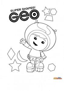 kleurplaat Geo