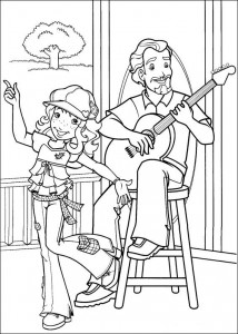 coloring page Making nice music