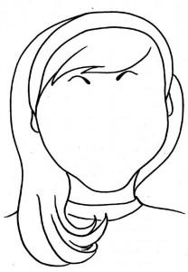 Disegno da colorare Facce (2)