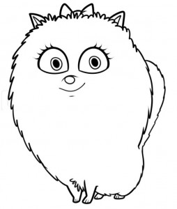 coloring page gidget 2