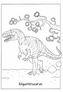 målarbok Gigantosaurus