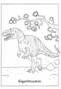 kleurplaat Gigantosaurus