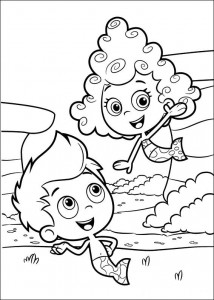coloring page Gil and Deema