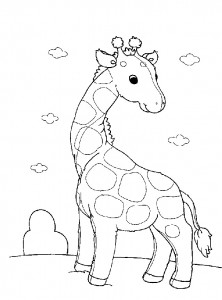 coloring page Giraffe (11)