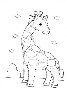 kleurplaat Giraffe (11)