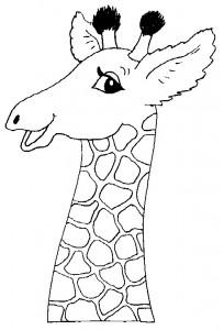 kleurplaat Giraffe (16)