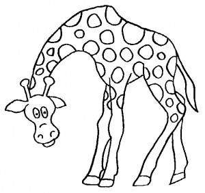 kleurplaat Giraffe (17)
