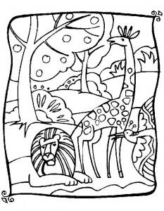 kleurplaat Giraffe (23)