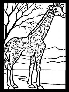 kleurplaat Giraffe (33)