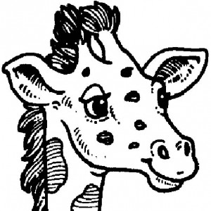 kleurplaat Giraffe (35)