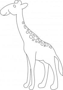 kleurplaat Giraffe (36)