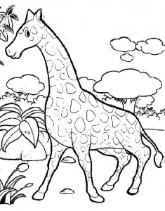coloring page Giraffe (38)