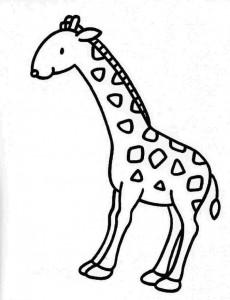 kleurplaat Giraffe (8)
