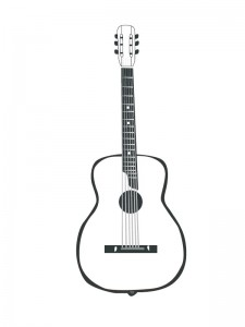 coloring page Guitar (1)