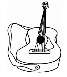 coloring page Guitar (2)