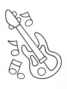målarbok Gitarr