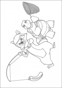 coloring page GJ and Verne