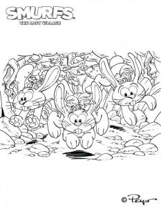 målarbok Glöd kaniner