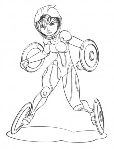 coloring page gogo tomago