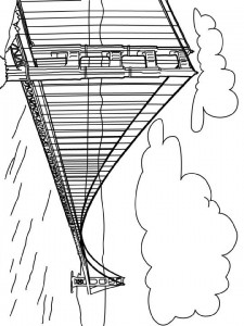 coloring page Golden Gate bridge, San Fransisco