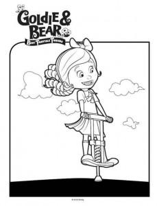 kleurplaat Goldie en beer (1)