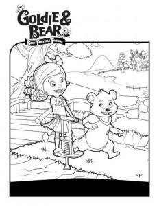 kleurplaat Goldie en beer (2)