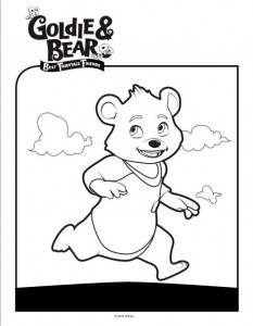 kleurplaat Goldie en beer (4)