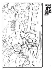 kleurplaat Goldie en beer (6)