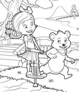 kleurplaat Goldie en beer (7)