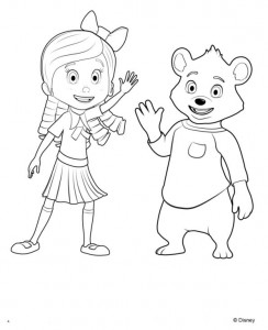 kleurplaat Goldie en beer (8)