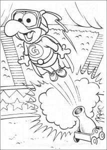 Gonzo as a human cannonball