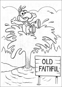 Målarbild Gonzo på en geizer