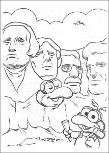 Gonzo målarbok mellan presidenten