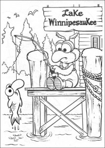 Gonzo fishes coloring page