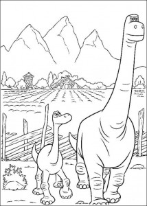 pagina da colorare Good Dinosaur (10)